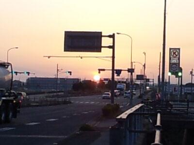 日の出の様子