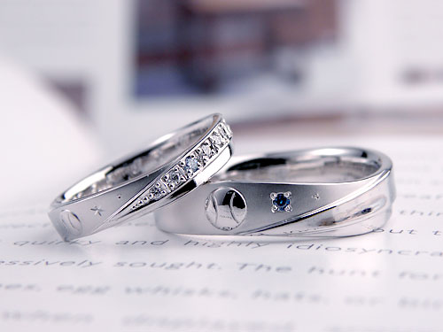 野球ボールの結婚指輪