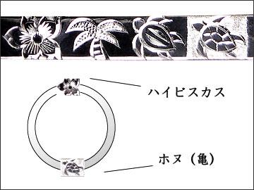 ハワイアン結婚指輪のモチーフ