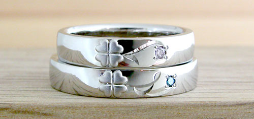 結婚指輪の完成写真