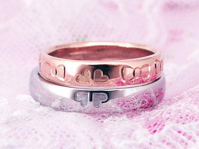 リボン彫刻の結婚指輪