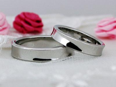 逆甲丸型の結婚指輪