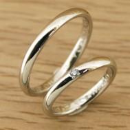 シンプルな甲丸型結婚指輪