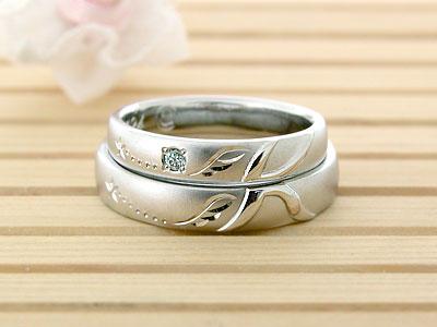 イニシャルKと羽の結婚指輪