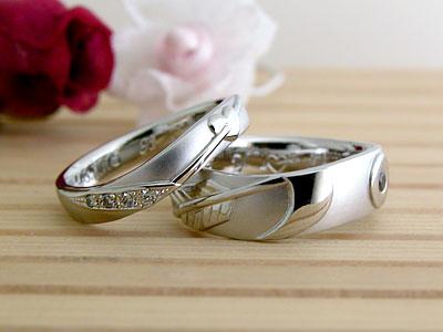 弓道がテーマの結婚指輪