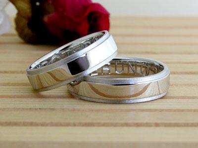 幅広でシンプルな結婚指輪