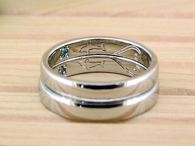 内側彫刻にこだわった結婚指輪