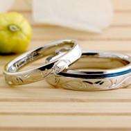 アイビー彫刻の結婚指輪