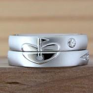 ゴルフがテーマの結婚指輪