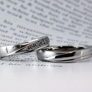 星の彫刻結婚指輪