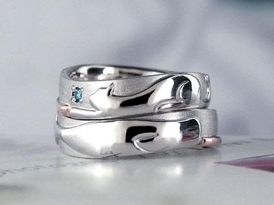 ネコとイルカの結婚指輪