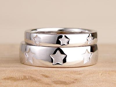 8つの星の結婚指輪