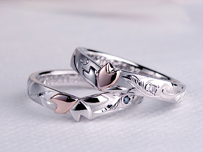桜の結婚指輪