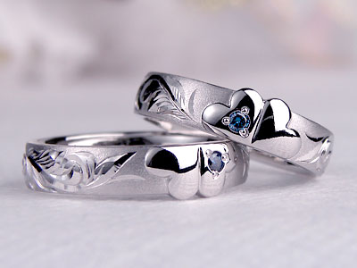 ぷっくりクローバーの結婚指輪