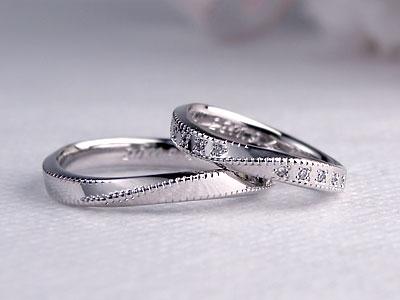 ミル打ちが可愛い結婚指輪
