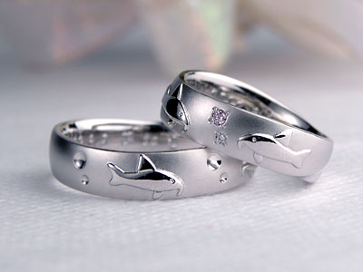 熱帯魚の結婚指輪