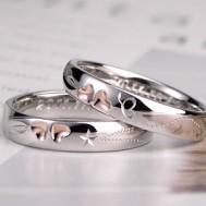 クローバーと蝶と星の結婚指輪