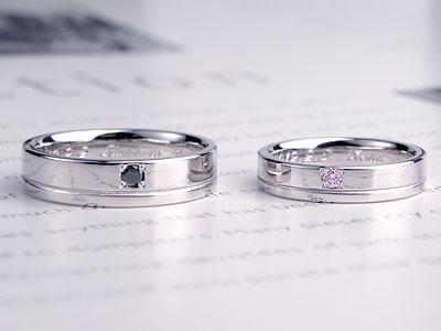 平打ちリング一本線結婚指輪
