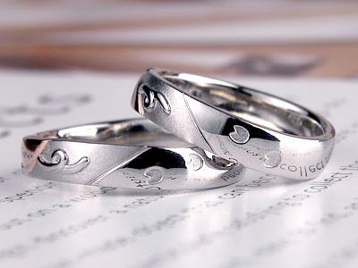 子ブタの足跡結婚指輪