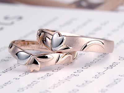 花びら一枚がプラチナ結婚指輪