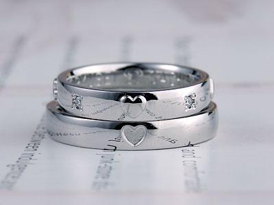トランプ図柄結婚指輪