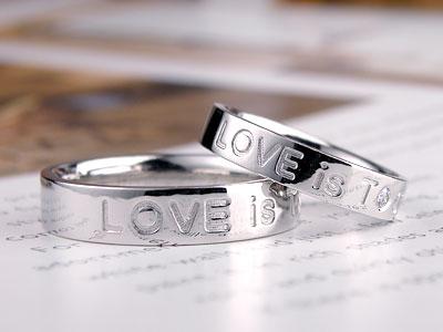 LOVE文字結婚指輪