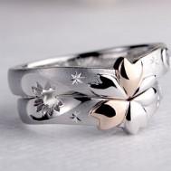 桜の透かしの結婚指輪