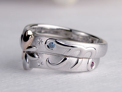 桜小道アレンジ結婚指輪