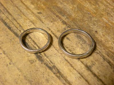 サイズ直しする前の結婚指輪
