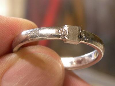 レーザーで溶接した結婚指輪