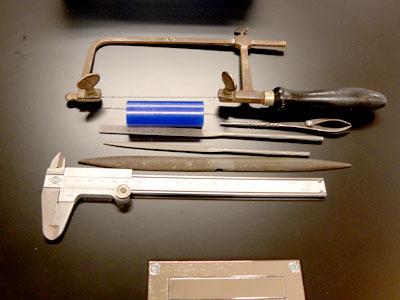 ワックス原型を作るための道具