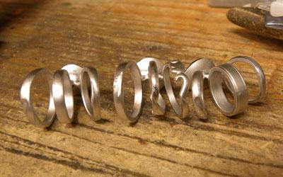 鋳造直後のリング
