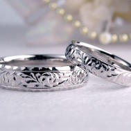 波が渦巻くハワイアン結婚指輪