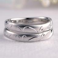 ハート彫刻指輪