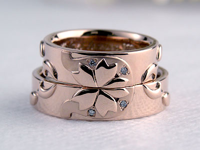 桜と蹄鉄のリング