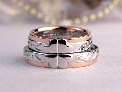 コンビの四つ葉結婚指輪