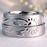 ひまわりの結婚指輪