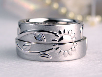 向日葵の結婚指輪