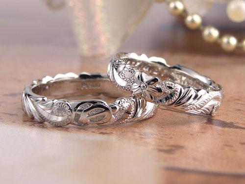 立体模様ハワイアン結婚指輪