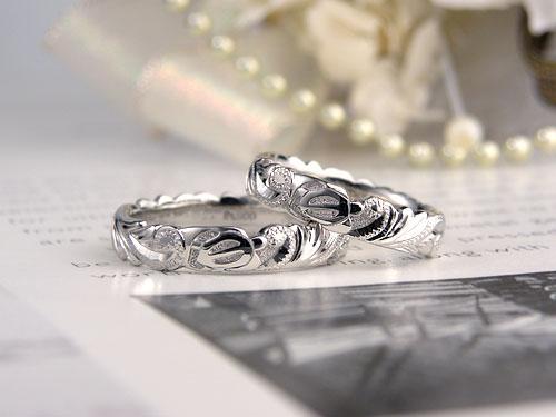 立体カメのハワイアン結婚指輪