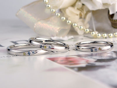 カラーダイヤの家族Ring