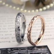 細身でキュートなハワイアン結婚指輪