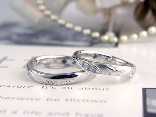 クジラと海のオーダー結婚指輪